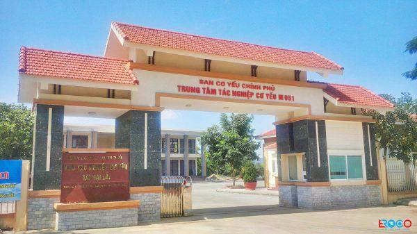 Thảm bê tông nhựa nóng tại Ban cơ yếu chính phủ tỉnh Vĩnh Phúc - vị trí thi công