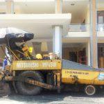 Thảm bê tông nhựa nóng tại Ban cơ yếu chính phủ tỉnh Vĩnh Phúc - rải thảm máy