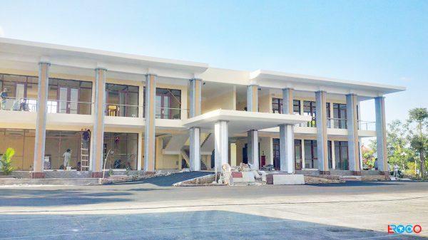 Thảm bê tông nhựa nóng tại Ban cơ yếu chính phủ tỉnh Vĩnh Phúc - hoàn thiện tương đối