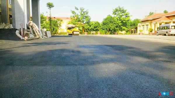 Thảm bê tông nhựa nóng tại Ban cơ yếu chính phủ tỉnh Vĩnh Phúc - sản phẩm hoàn thiện