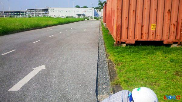 mặt bằng thi công thảm bê tông nhựa nóng tại Molex