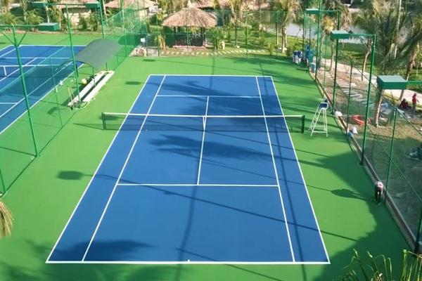 Nền sân tennis thảm bê tông nhựa asphalt