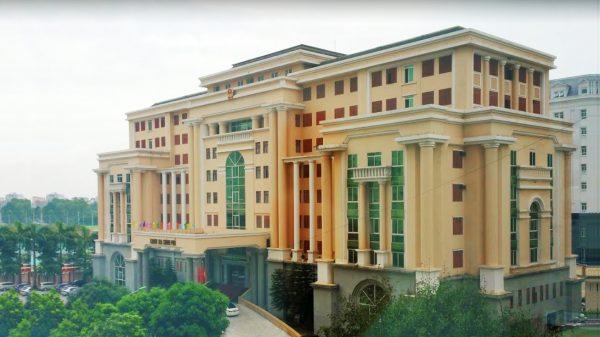 Thảm bê tông nhựa nóng đường vào Văn phòng chính phủ – Hà Nội