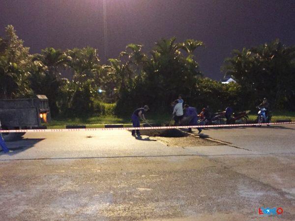 Thi công thảm bê tông nhựa nóng tại Long Biên – Hà Nội
